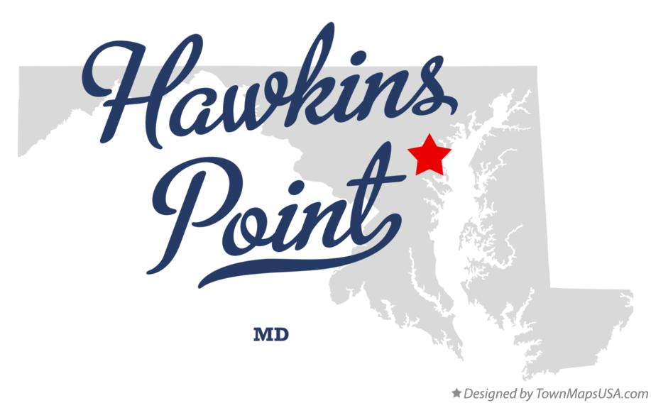 Map of Hawkins Point Maryland MD