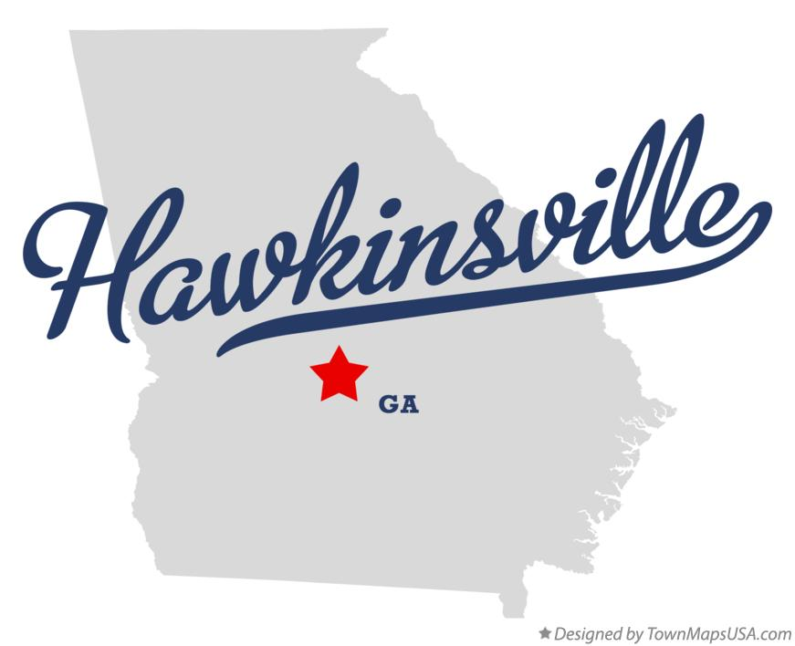 Map of Hawkinsville, GA, Georgia