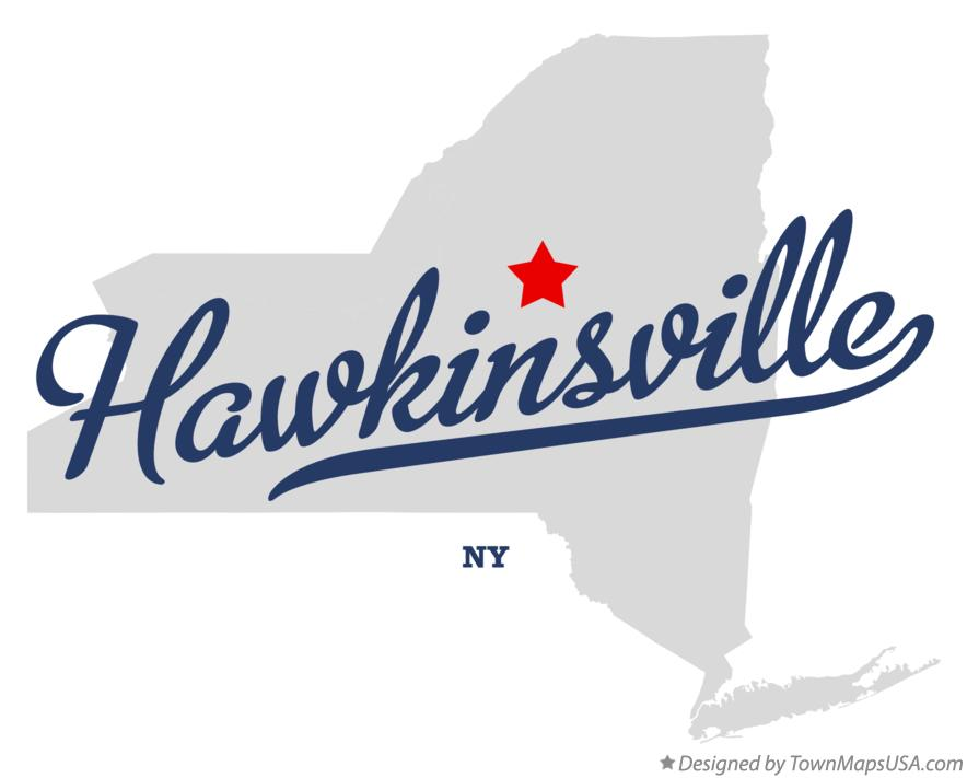 Map of Hawkinsville New York NY