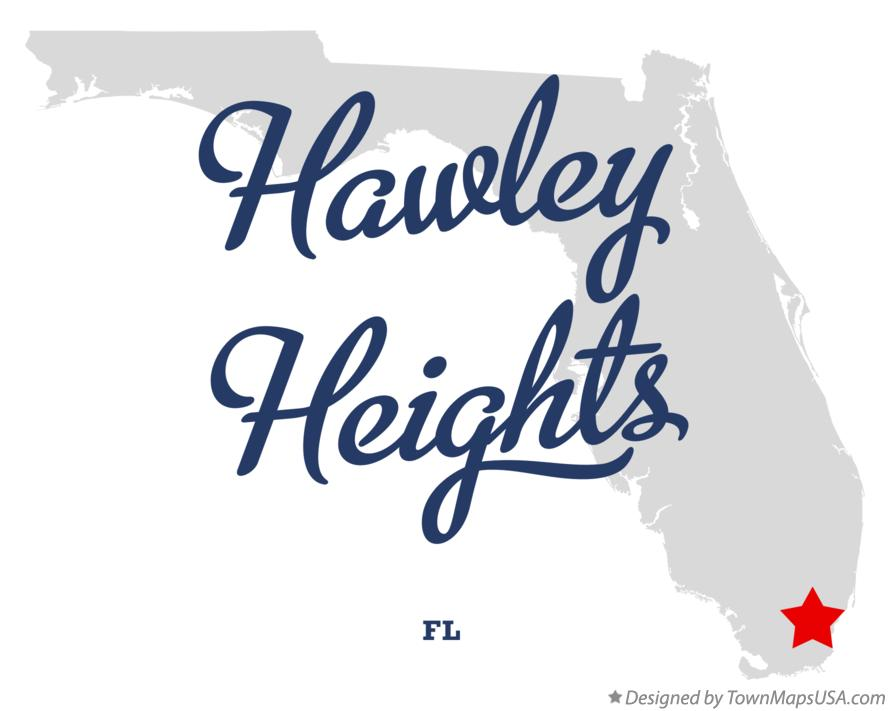 Map of Hawley Heights Florida FL