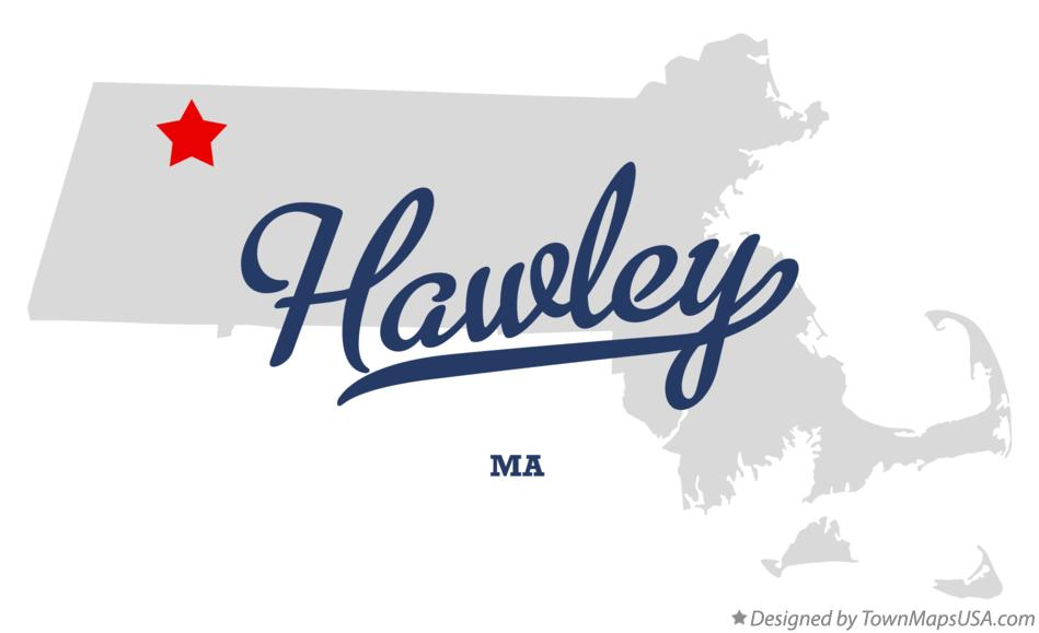 Map of Hawley Massachusetts MA