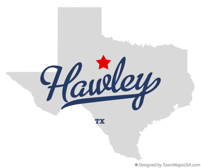 Map of Hawley Texas TX