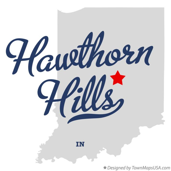 Map of Hawthorn Hills Indiana IN
