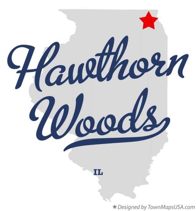 Map of Hawthorn Woods Illinois IL