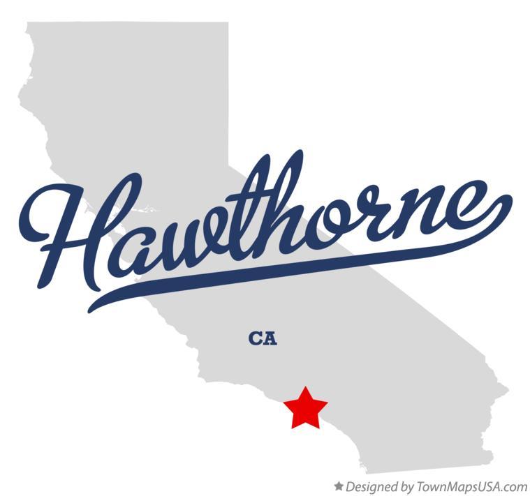 Hawthorne California Map.Map Of Hawthorne Ca California