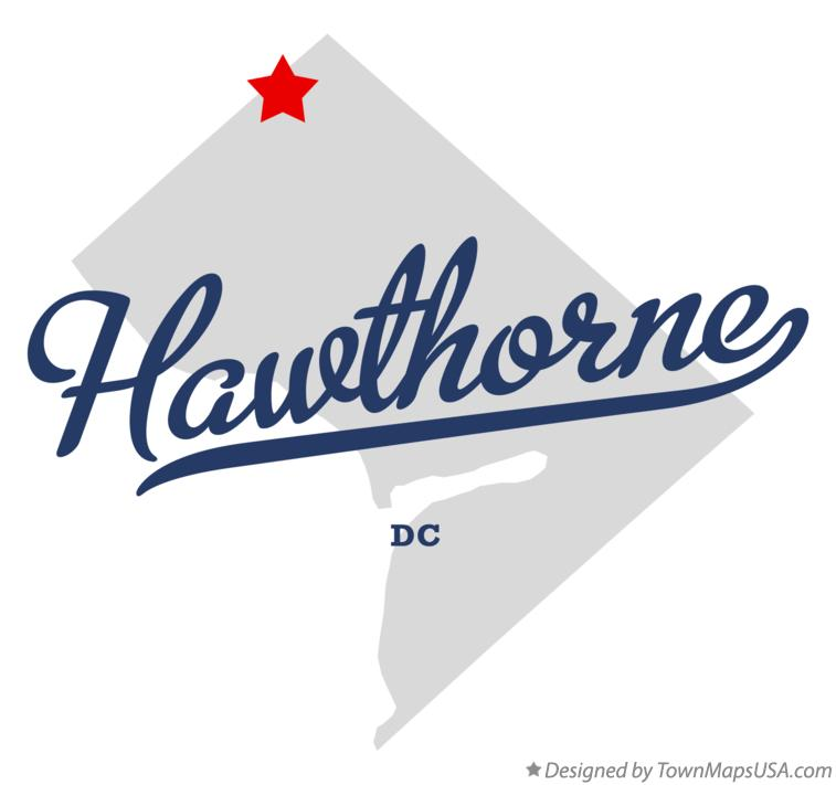 Map of Hawthorne District Of Columbia DC