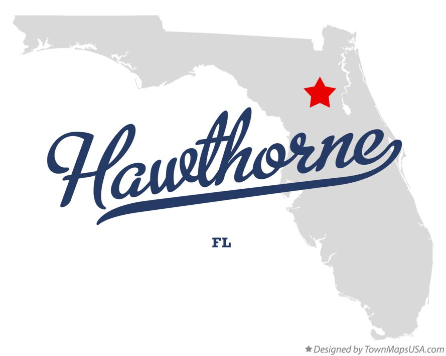 Map of Hawthorne Florida FL