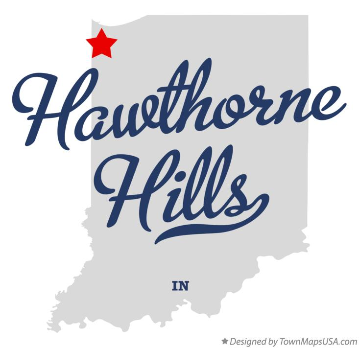 Map of Hawthorne Hills Indiana IN