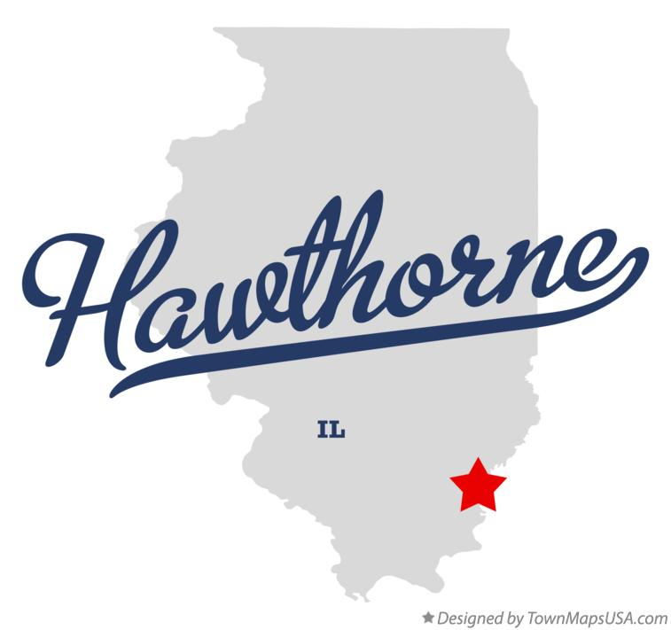 Map of Hawthorne Illinois IL