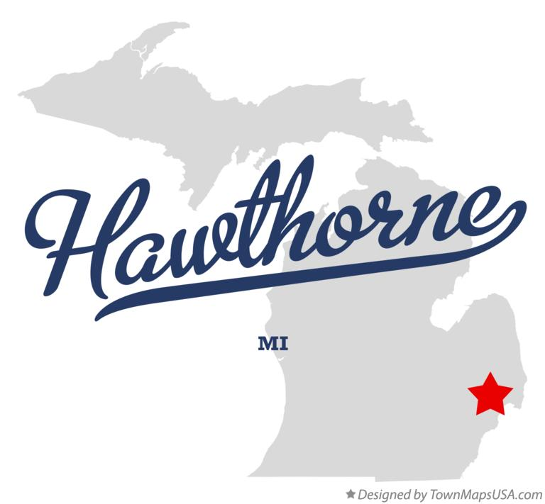 Map of Hawthorne Michigan MI