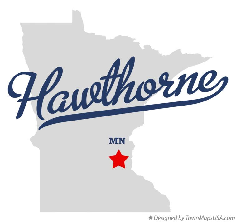 Map of Hawthorne Minnesota MN