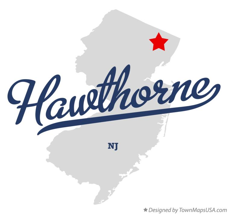 Map of Hawthorne New Jersey NJ