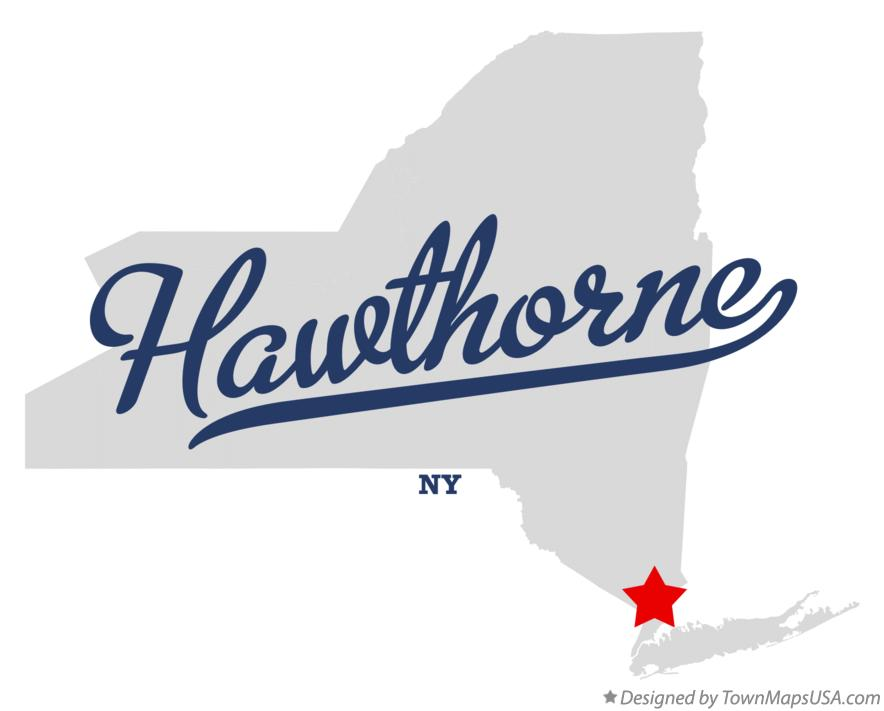 Map of Hawthorne New York NY