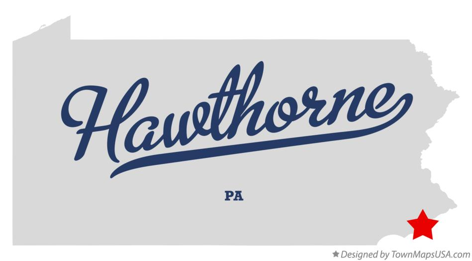 Map of Hawthorne Pennsylvania PA