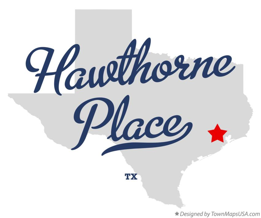 Map of Hawthorne Place Texas TX