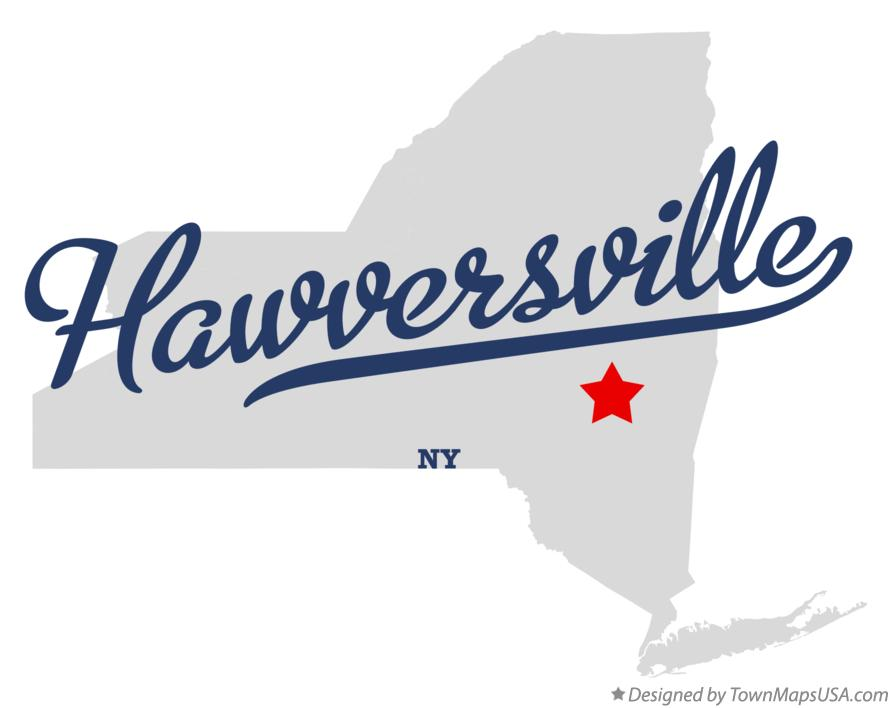 Map of Hawversville New York NY