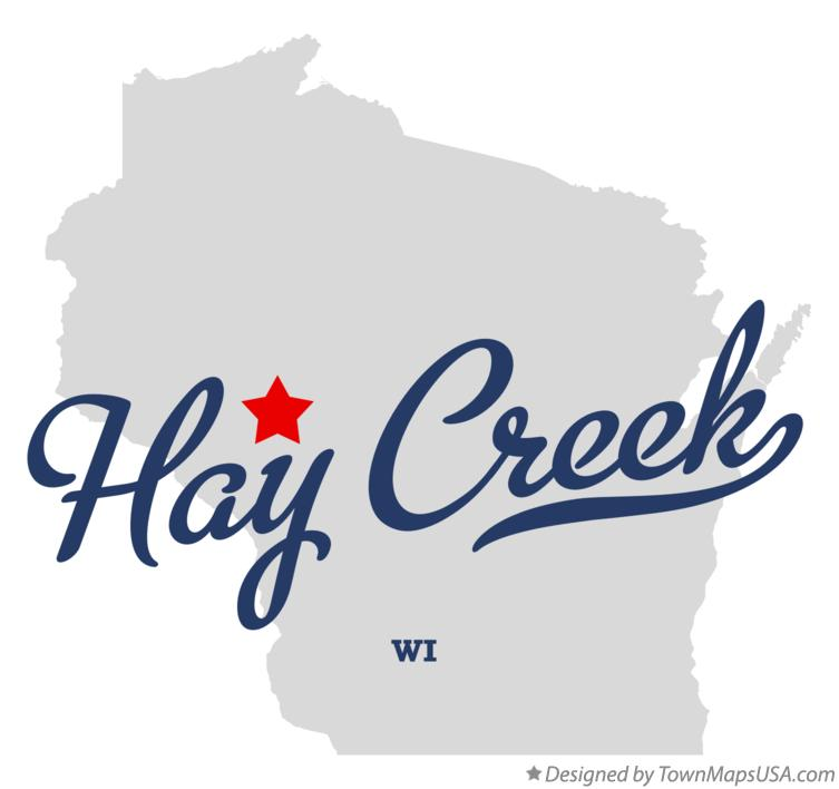 Map of Hay Creek Wisconsin WI