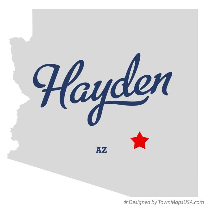 Map of Hayden Arizona AZ