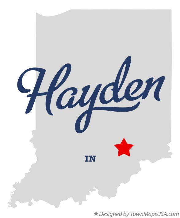 Map of Hayden Indiana IN