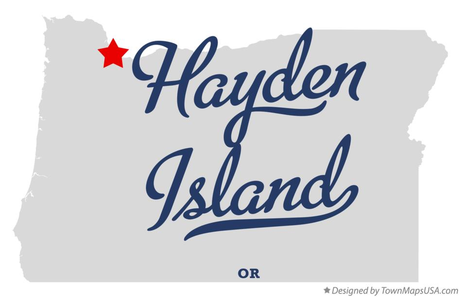 Map of Hayden Island Oregon OR