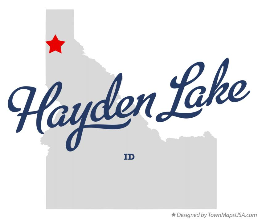 Map Of Hayden Lake Id Idaho