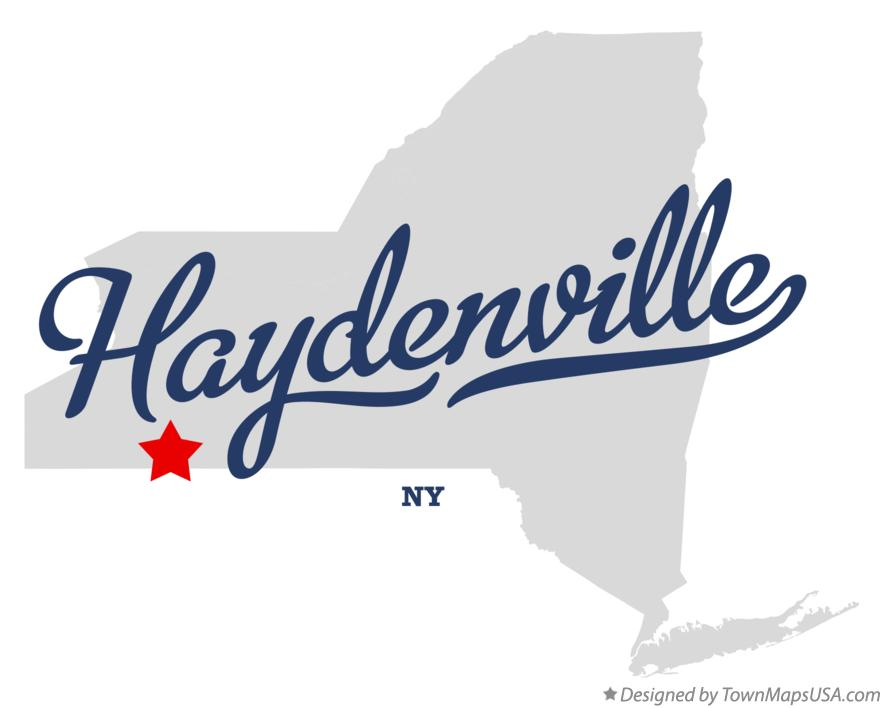 Map of Haydenville New York NY
