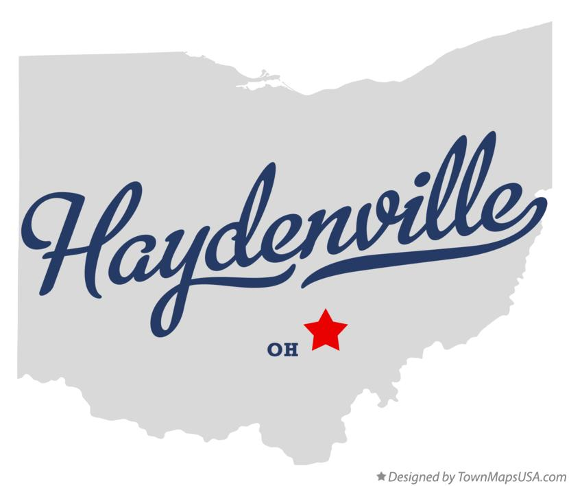 Map of Haydenville Ohio OH