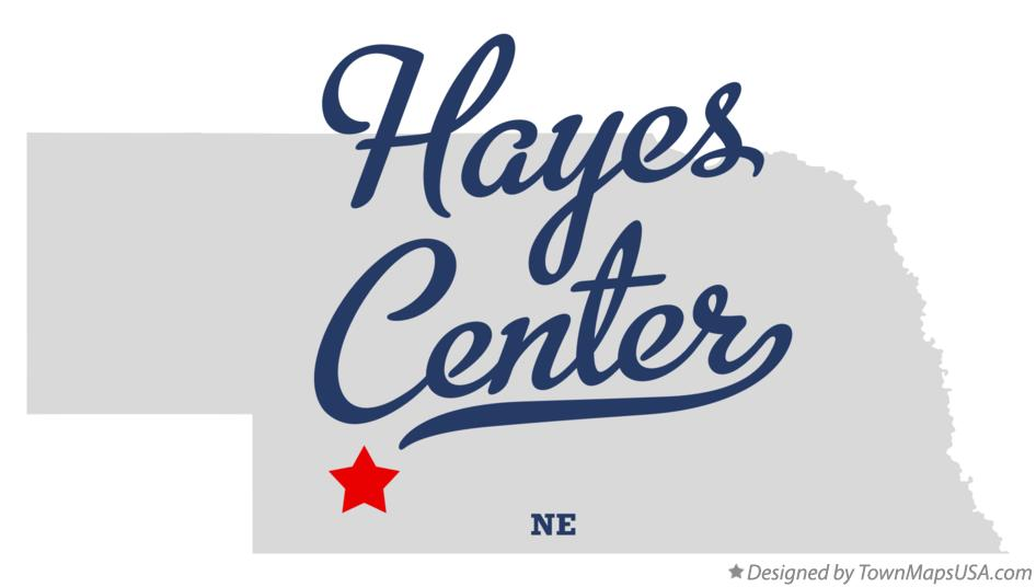 Map of Hayes Center Nebraska NE