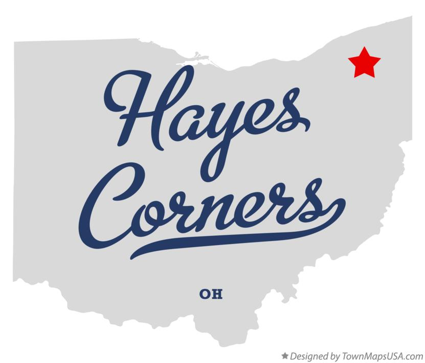 Map of Hayes Corners Ohio OH