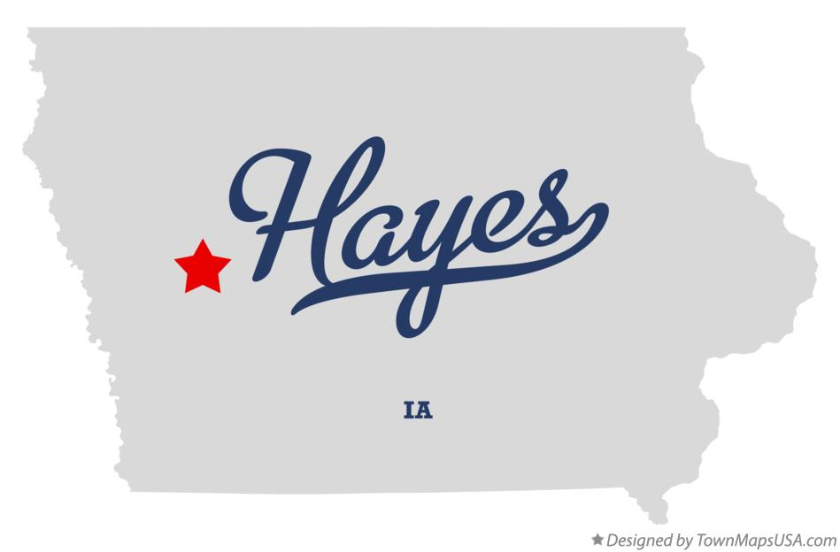 Map of Hayes Iowa IA