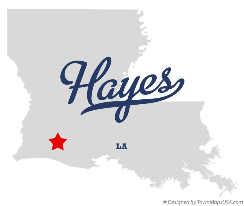 Map of Hayes Louisiana LA