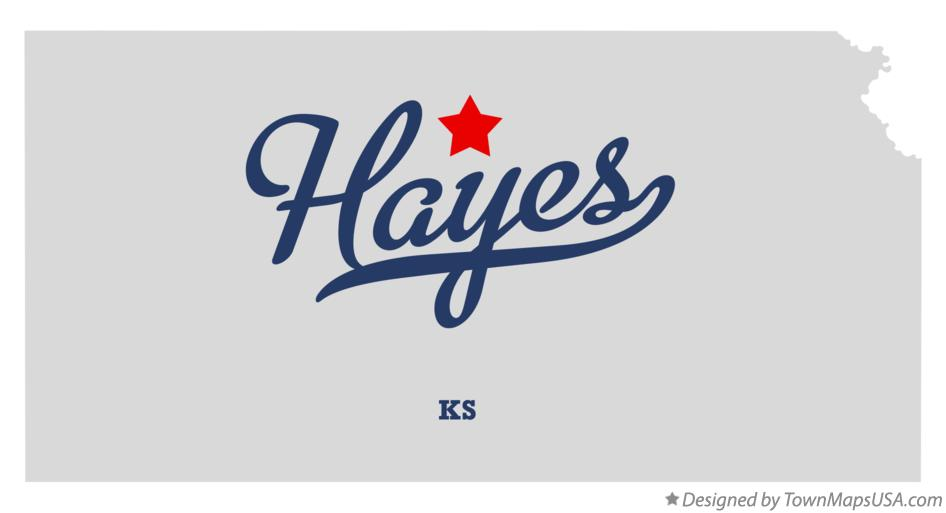 Map of Hayes Kansas KS