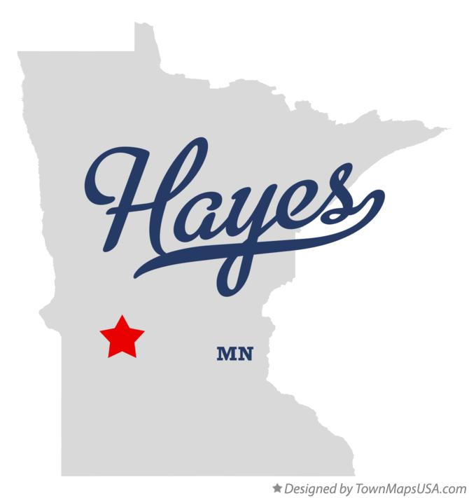 Map of Hayes Minnesota MN