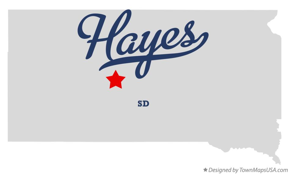 Map of Hayes South Dakota SD