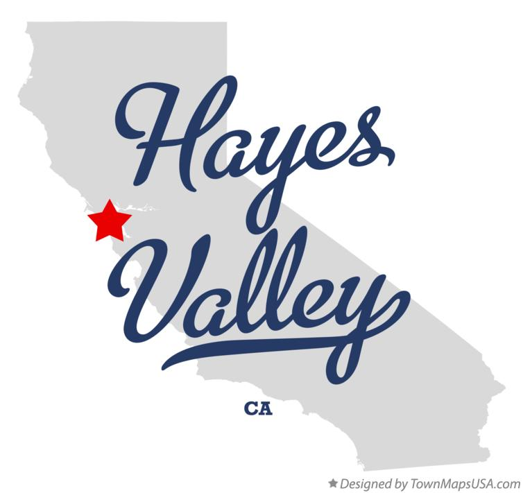 Map of Hayes Valley California CA