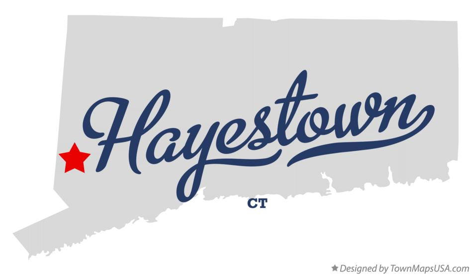 Map of Hayestown Connecticut CT