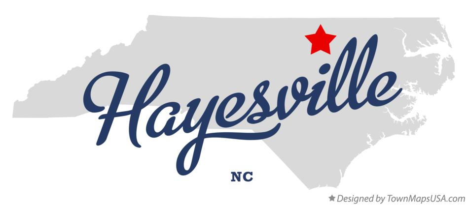 Map of Hayesville North Carolina NC