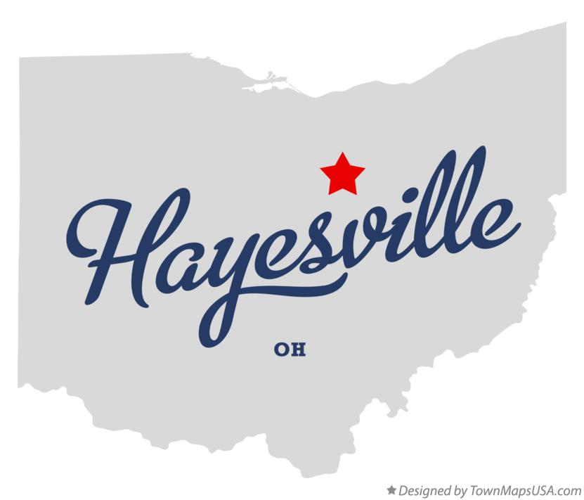 Map of Hayesville Ohio OH
