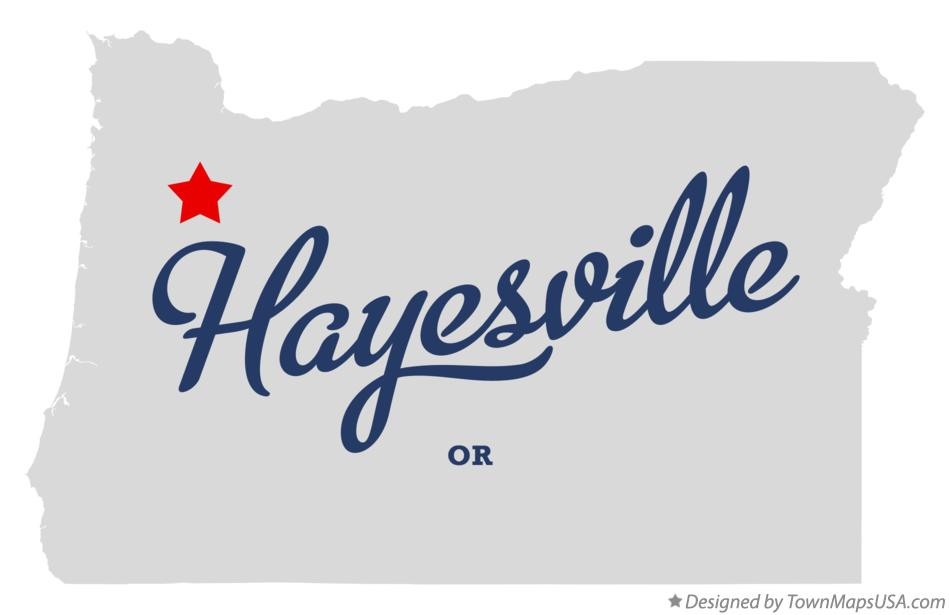 Map of Hayesville Oregon OR