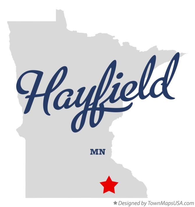 Map of Hayfield Minnesota MN