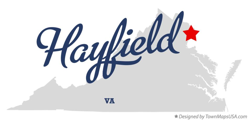 Map of Hayfield Virginia VA