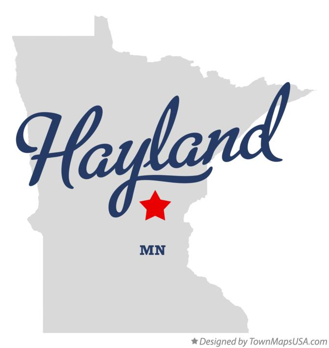 Map of Hayland Minnesota MN