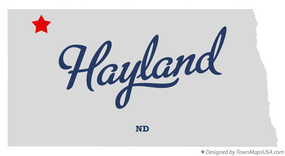 Map of Hayland North Dakota ND