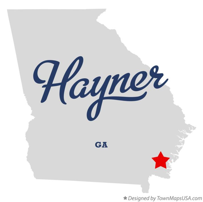 Map of Hayner Georgia GA