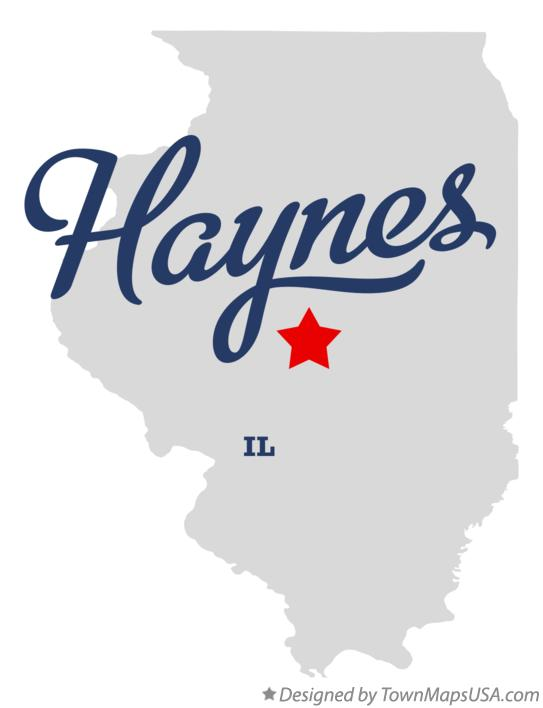 Map of Haynes Illinois IL