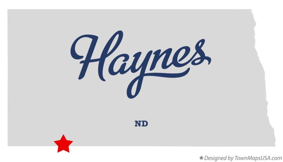 Map of Haynes North Dakota ND