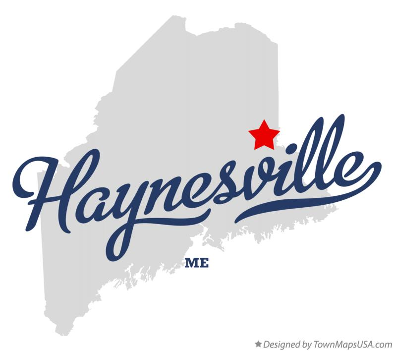 Map of Haynesville Maine ME