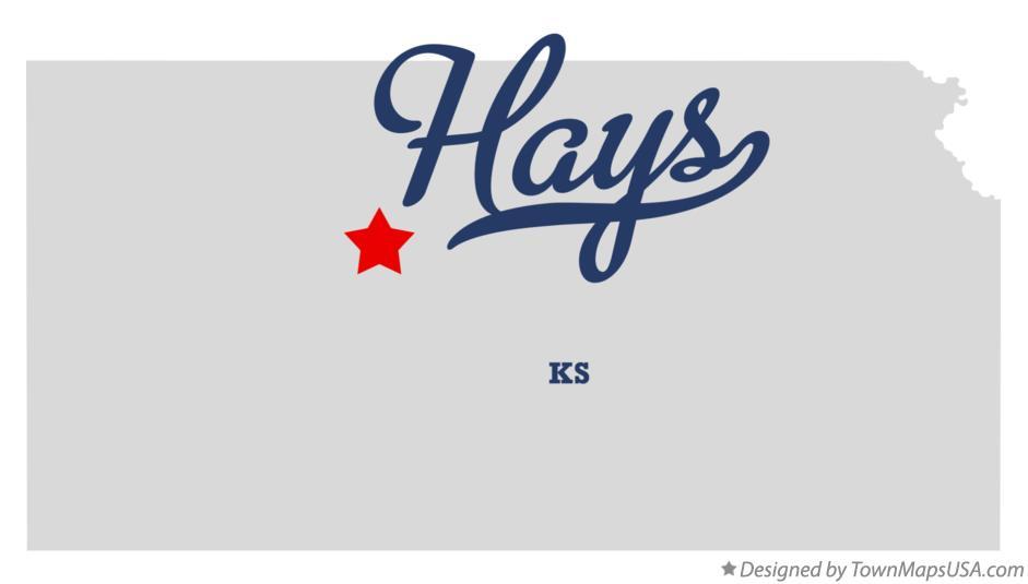 Map Of Hays Ks Kansas