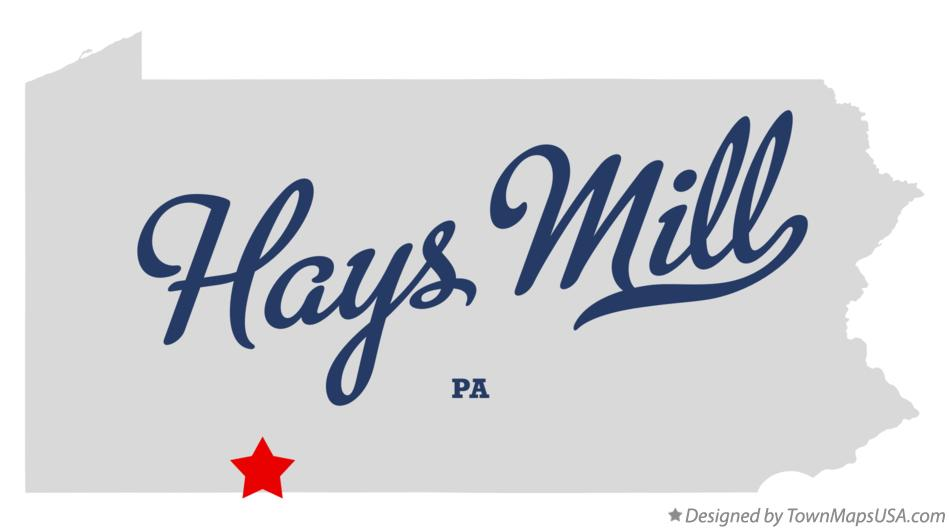 Map of Hays Mill Pennsylvania PA