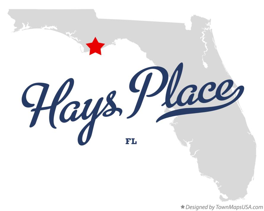 Map of Hays Place Florida FL